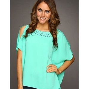 EUC Lilly Pulitzer Trace Top in Lagoon Green